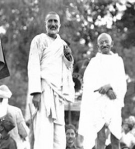 Bacha Khan together with Gandhi